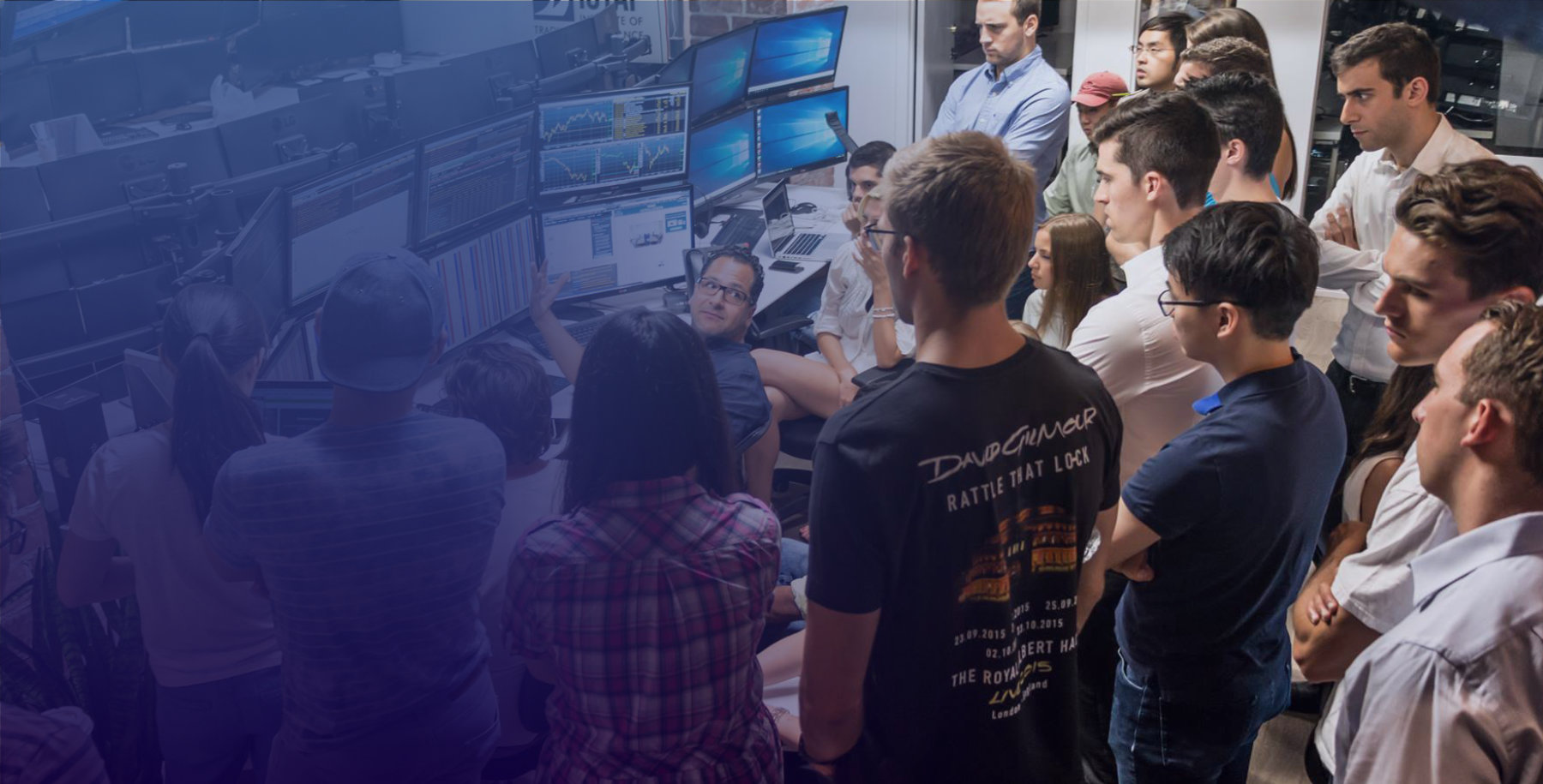 IOTAF trading floor with students