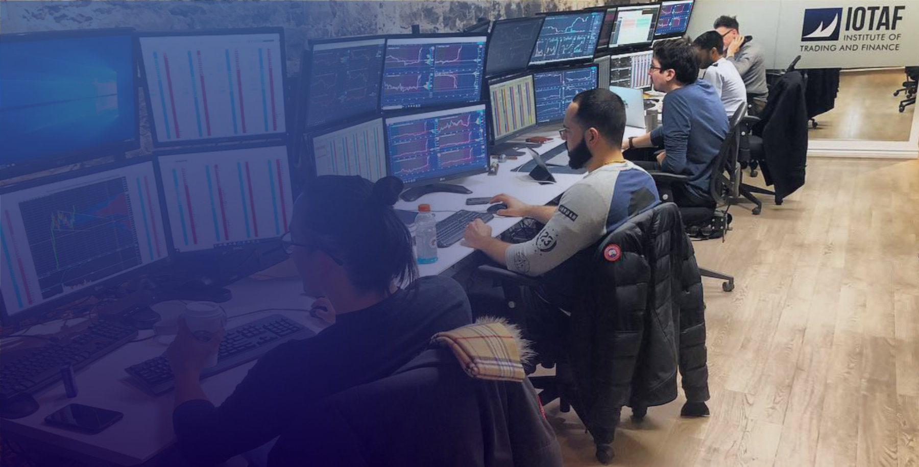 IOTAF trading floor with traders